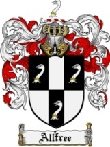 Allfree Family Crest / Coat of Arms JPG or PDF Image Download - $6.99