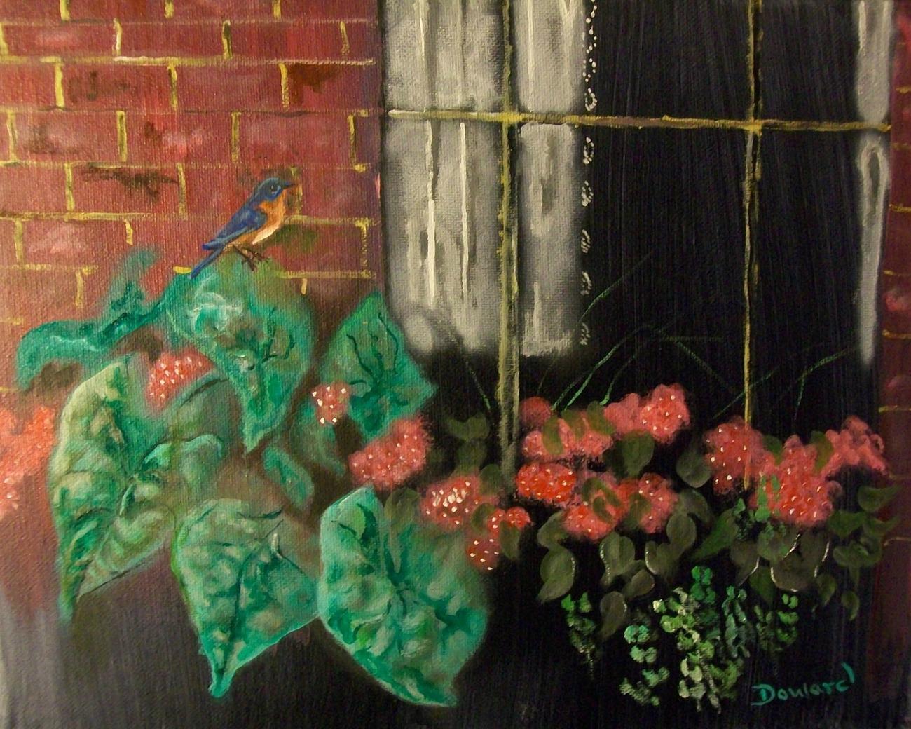 "Modern Contemporary 8X10 Floral Canvas Print ""Curious"""