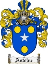 Antoine Family Crest / Coat of Arms JPG or PDF Image Download - $6.99