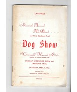 VTG AKC Catalog 16th Annual All Breed Dog Show 1956 Greenville Kennel Cl... - $9.99