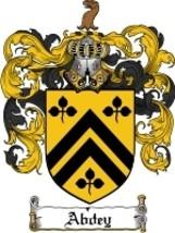 Abdey Family Crest / Coat of Arms JPG or PDF Image Download - $6.99