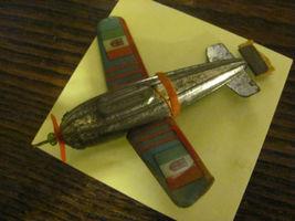 RARE toy tin airplane, circa 1934-40 - $14.50