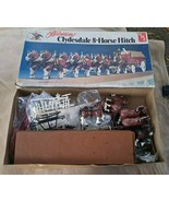 Vintage AMT Budweiser Clydesdale 8-Horse Hitch 1/20 Scale Kit No. 7702 - £81.58 GBP