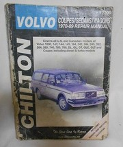 Chilton's Volvo Coupes/Sedans/Wagons 1970-89 Automotive  Repair  Manual - $7.49
