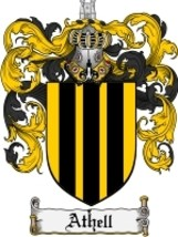 Athell Family Crest / Coat of Arms JPG or PDF Image Download - $6.99