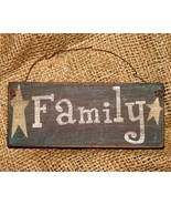 Wooden Family Sign Country Home Decor - $5.99