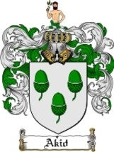 Akid Family Crest / Coat of Arms JPG or PDF Image Download - $6.99