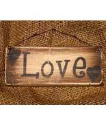Wooden Love Sign Country Home Decor - $5.99