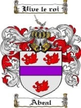 Abeal Family Crest / Coat of Arms JPG or PDF Image Download - $6.99