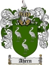 Ahern Family Crest / Coat of Arms JPG or PDF Image Download - $6.99