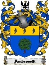 Ambroselli Family Crest / Coat of Arms JPG or P... - $6.99