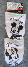 MICKEY MINNIE MOUSE Sketch 2-Pack Oversized Mini Oven Mitt Pot Holder NE... - $19.78
