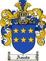 Amato Family Crest / Coat of Arms JPG or PDF Image Download - $6.99
