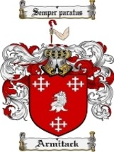Armitack Family Crest / Coat of Arms JPG or PDF Image Download - $6.99