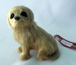 Dog Ornament Christmas Yellow Maltese Golden Puppy Short Hair NEW Realis... - $18.78