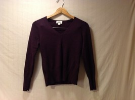 Ann Taylor Womens Plum Purple Pullover Sweater, Size Medium