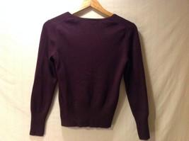 Ann Taylor Womens Plum Purple Pullover Sweater, Size Medium image 2