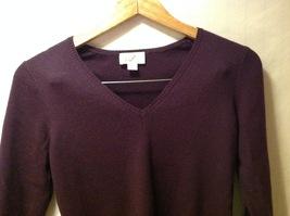 Ann Taylor Womens Plum Purple Pullover Sweater, Size Medium image 3