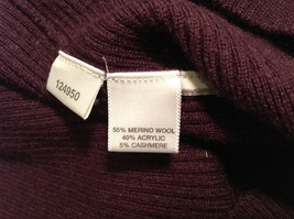 Ann Taylor Womens Plum Purple Pullover Sweater, Size Medium image 7