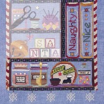 Naughty Or Nice Santa's Cabinet Part 3 cross stitch chart SamSarah Designs - $17.20