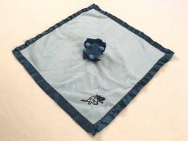 Blankets & Beyond Blue Dinosaur Triceratops Baby Security Blanket Satin ... - $13.49