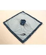 Blankets & Beyond Blue Dinosaur Triceratops Baby Security Blanket Satin Trim - $14.99