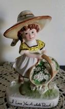 "1972 American Greetings ""I Love You A Bunch"" Flower Girl Figurine - $30.40"
