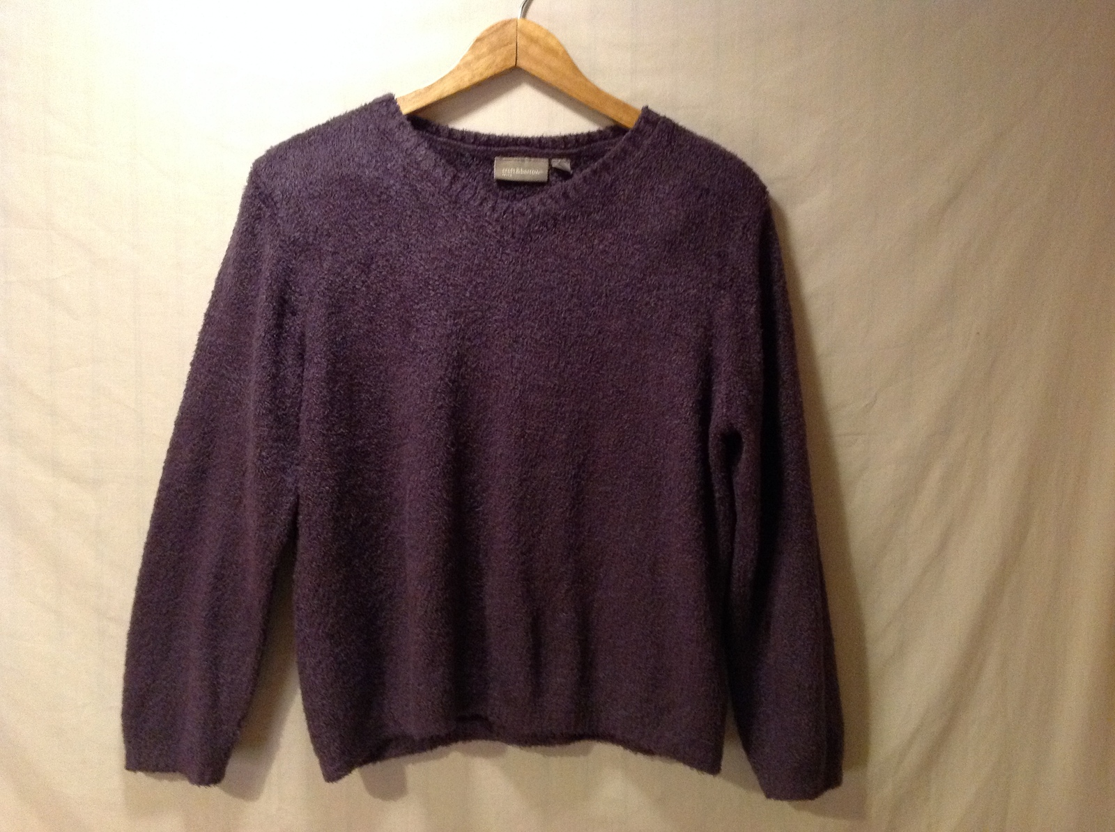 Croft & Borrow Womens Purple Pullover Sweater, Size Petite Large
