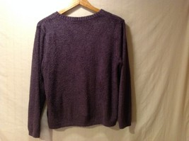 Croft & Borrow Womens Purple Pullover Sweater, Size Petite Large image 2