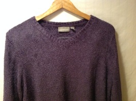 Croft & Borrow Womens Purple Pullover Sweater, Size Petite Large image 3