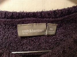 Croft & Borrow Womens Purple Pullover Sweater, Size Petite Large image 6