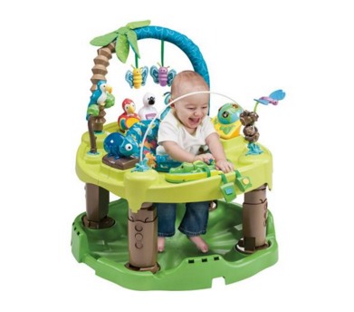 ExerSaucer Triple Fun Evenflo Jungle Amazon Baby Infant Toddler Toy Playmat New