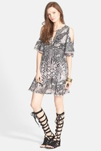 Free People Love Birds Mini Dress M Stone Combo - $60.00