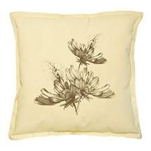 Vietsbay's Hand Drawn Flower Prints Khaki Decorative Pillows Cover Case ... - €13,99 EUR