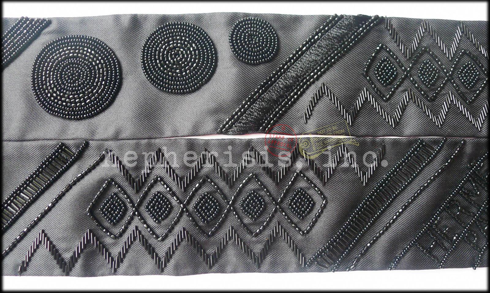 RARE AUTH BNIB Hermes TWILLY PRECIEUX ART DECO Beaded Silk Scarf Black/PINK