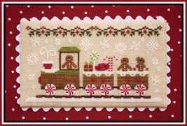 Gingerbread Train #1 Gingerbread Village series cross stitch Country Cot... - $5.40