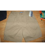 Girls OSHKOSH BGOSH Genuine Blues Khaki Beige Pleated Shorts Sz XL 14 16... - $9.99
