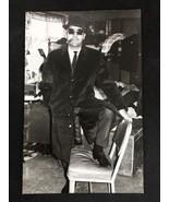 Vintage US Air Force Military Drunk Funny Hat Cigar Man Black White Phot... - $28.02