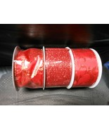 """Wired Glitter Ribbons Red 2 1/2"""" X 10 Yds., Set Of 3 Different Patterns - $19.75"""