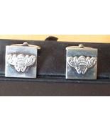"Silver Tone Square Decorative Cufflinks 5/8"" with Gift Box - $22.76"
