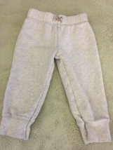 Carters Girls Heather Gray Jogger Sweatpants 18 Months  - $3.50
