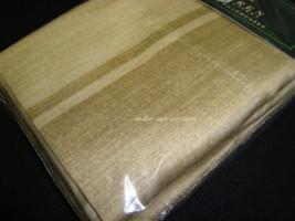 New Ralph Lauren King 2 Pillowcases Set Villa Camelia Linen Beige Stripe - $59.99