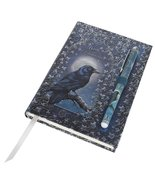 "Luna Lakota Spells Raven Crow 6.75"" Hard Cover Embossed Journal Book wit... - $16.33"