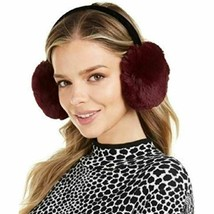 INC International Concepts Faux Fur Earmuffs, Velvet Band, Wine with Bla... - $8.99