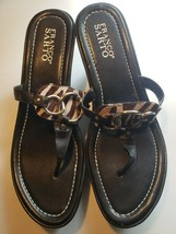 Franco Sarto Women Black Flip Flops Sandals Sz US 9 - $27.72