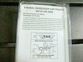 Micro-Trains Stock # 00402040 (904) 4-wheel Passenger Car Trucks Z & Nn3 image 3