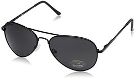 Fastrack Aviator unisex Sunglasses (M069BK3|58|Grey) - $70.99