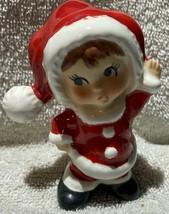 """Vintage Lefton Exclusives Japan 3.5"""" Christmas Child Santa Suit Foil Seal - $9.89"""
