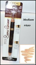 Loreal Paris Brow Stylist Brow Raiser Highlighter Duo  #620 Medium - $6.95