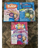 Slime Factory Unicorn Putty Kit GLITTER Fluffy Unicorn And Galaxy Set Of 3 - $23.75